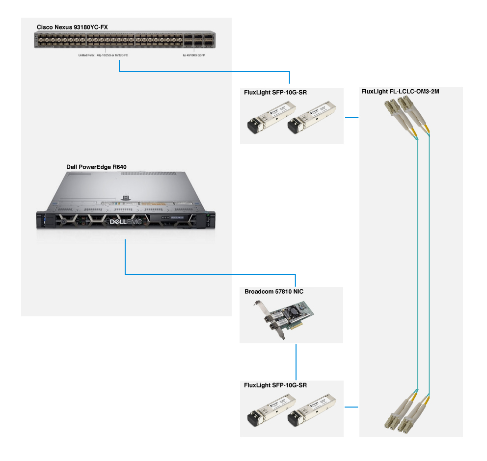 Cisco Nexus 93180YC-FX to Dell PowerEdge R640